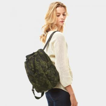 quilted camo backpack