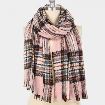 oblong plaid scarf
