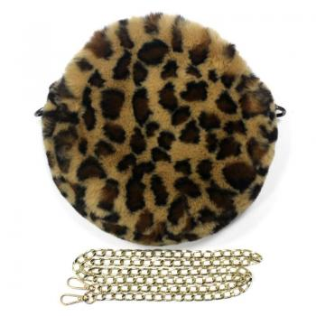 circle leopard cross body bag
