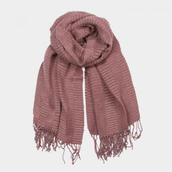 oblong mauve ribbed scarf