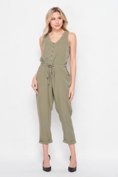 Button Down Jumpsuit