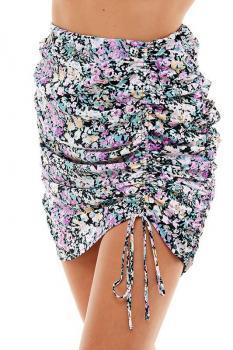 Botanical Runched Skirt