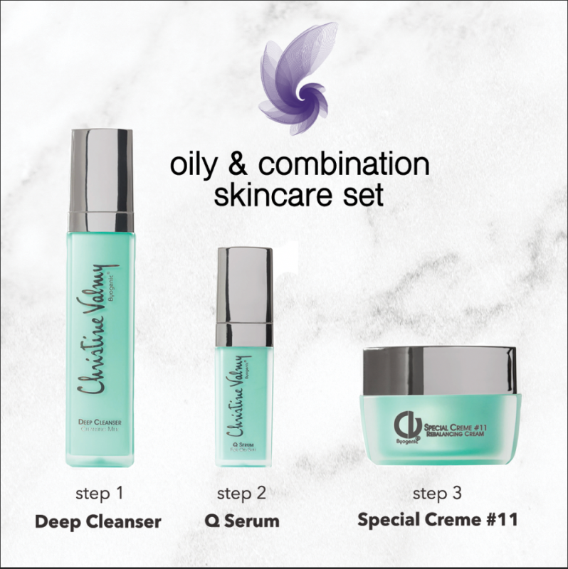 Christine Valmy Oil & Combo skincare set