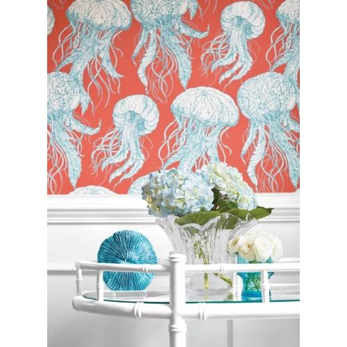 Thibaut Design Jelly Fish Bloom T13172 Wallpaper 3-500x500