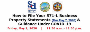 Biz Property Tax Webinar Friday: Tax saving tips & E-File options for 571-L - Hosted by SD Regional Chamber of Commerce